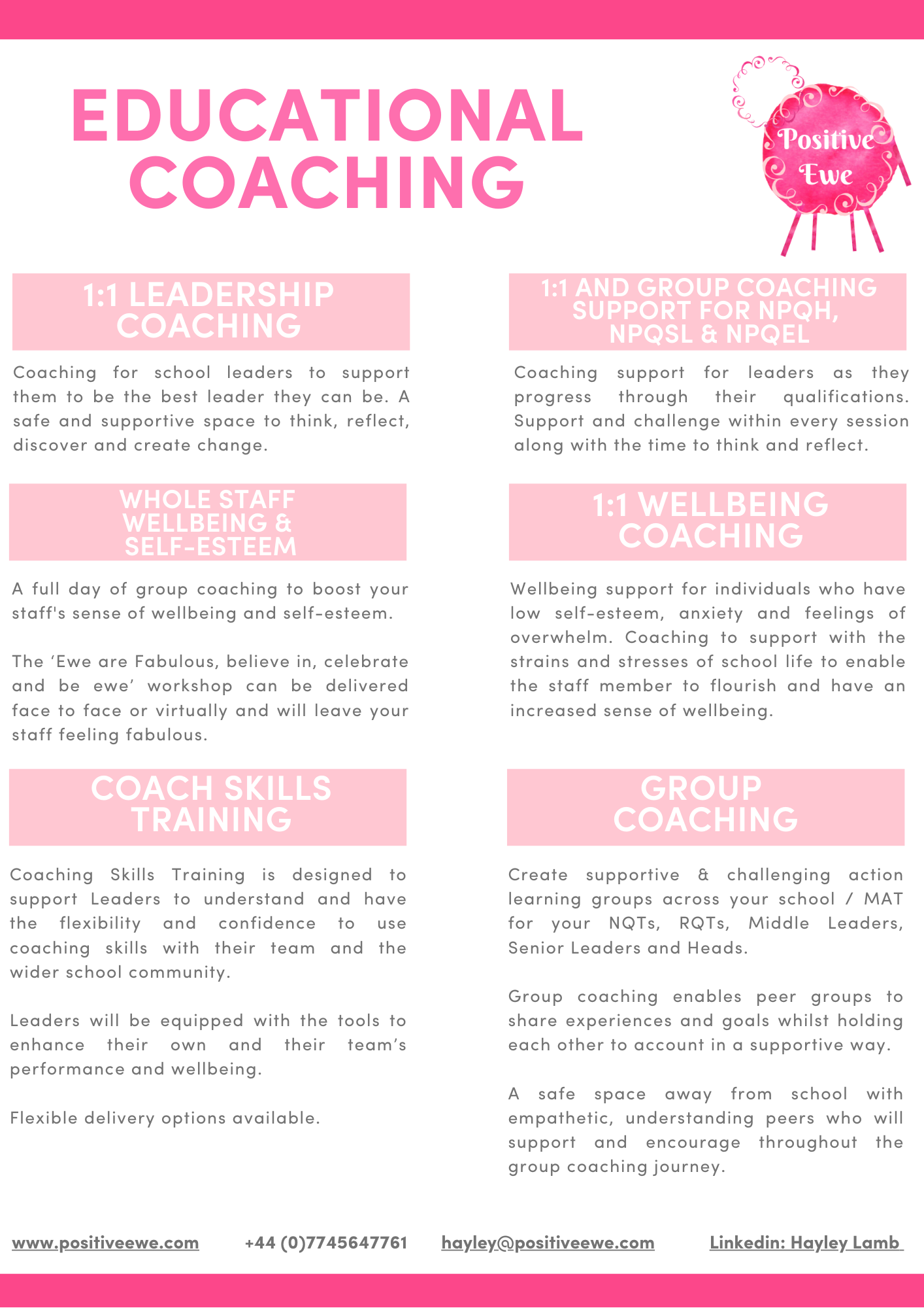 Positive Ewe Educational Coaching